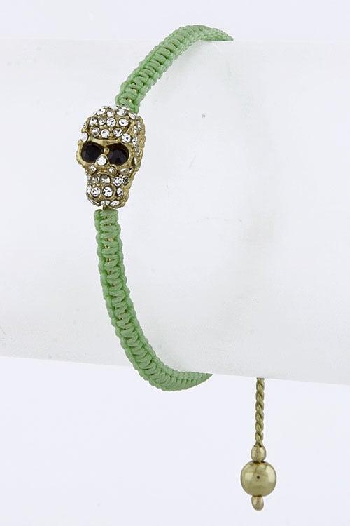 Image of Braided Skull Bracelet