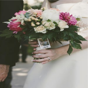 Image of Bridal Bouquet Polaroid Pin