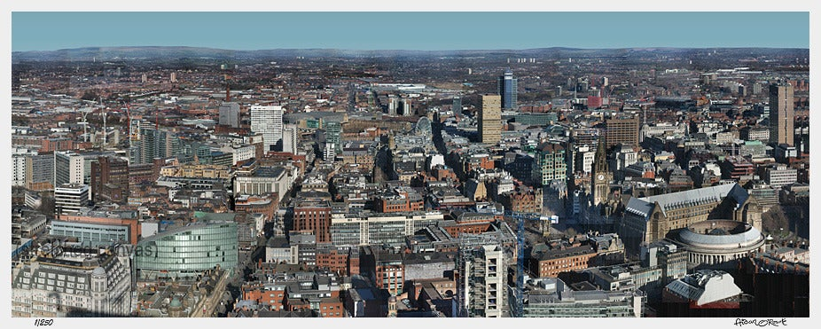 Image of Manchester Mega-Photo cropped version - print or canvas