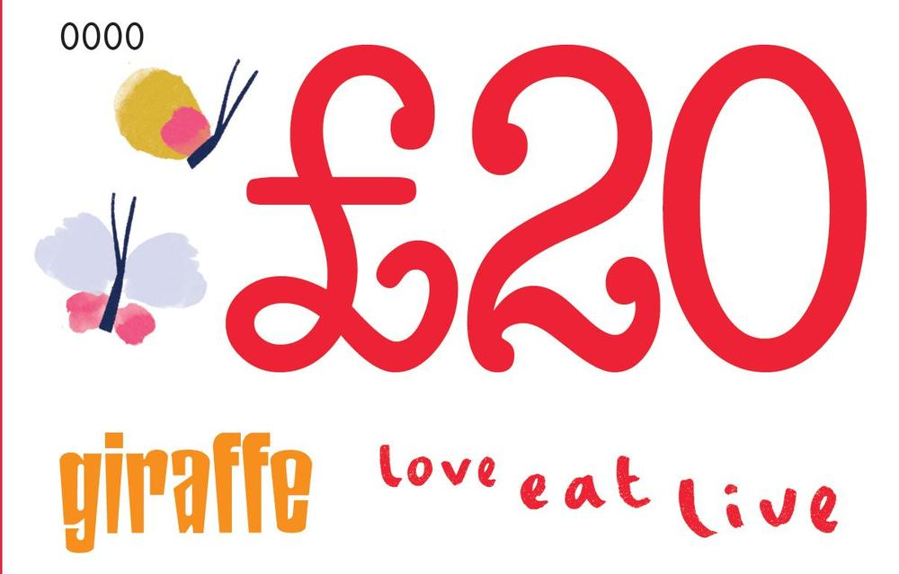 Giraffe restaurants shop 20 gift voucher image of 20 gift voucher negle Images