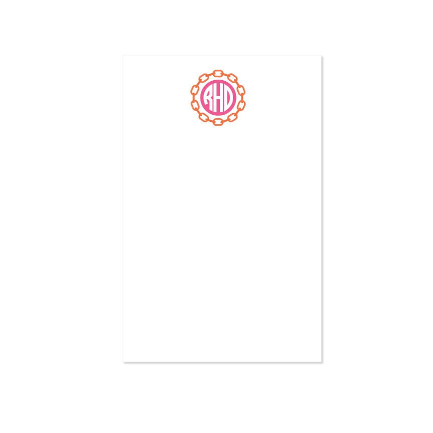 Image of Personalized Links Monogram Notepad