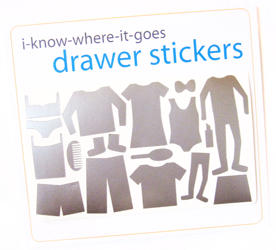 Image of Drawer Organizer Stickers - Big Girl