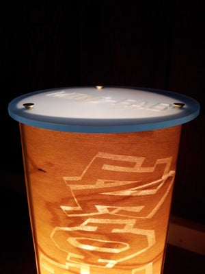 Image of Handmade Personalized Real Wood Accent Lamp - Cherry