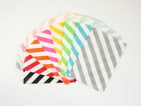 Image of LARGE DIAGONAL STRIPED FAVOR BITTY BAGS: 20