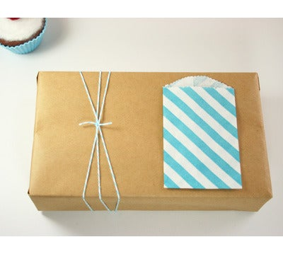 Image of SMALL DIAGONAL STRIPED FAVOR BITTY BAGS: 20