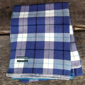 Image of coldatnight Welsh Wool Blanket in heather plaid