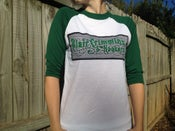 Image of Green Baseball Shirt with Logo (XS or Youth Large Size) On SALE!