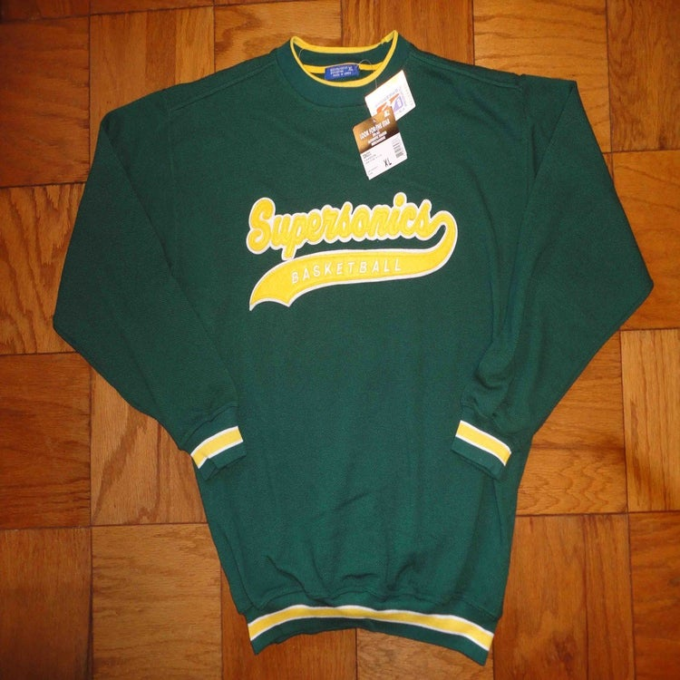 Image of Vintage Deadstock Seattle Supersonics Starter Script Crewneck Sweatshirt Jumper