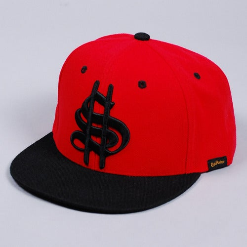 Image of Old Money Snapback Cap (Red)