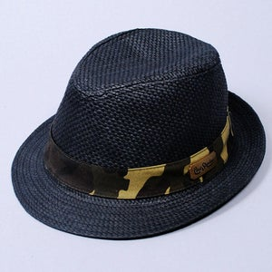 Image of Hanoi Straw Fedora (Black)
