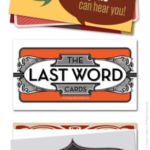 Image of Last Word Cards VOLUME 2 (pack of 24)