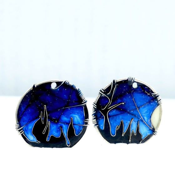 Image of Sky Full Of Stars Silver Earrings