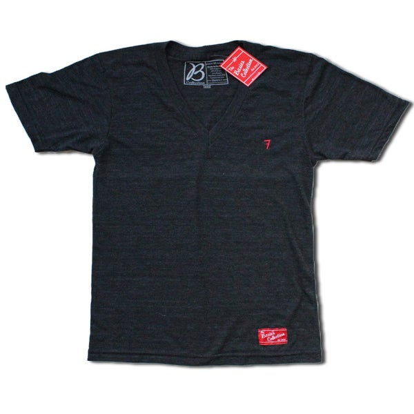 Image of The Basics Collection- Tri-Blend V-Neck Black