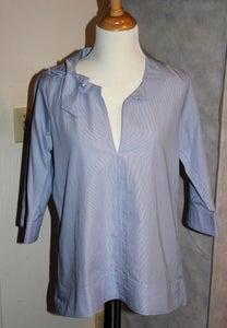 Image of Uniqlo Ribbon 3/4 Sleeve Shirt