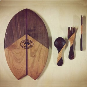 Image of Cutting board and Cutlery Set