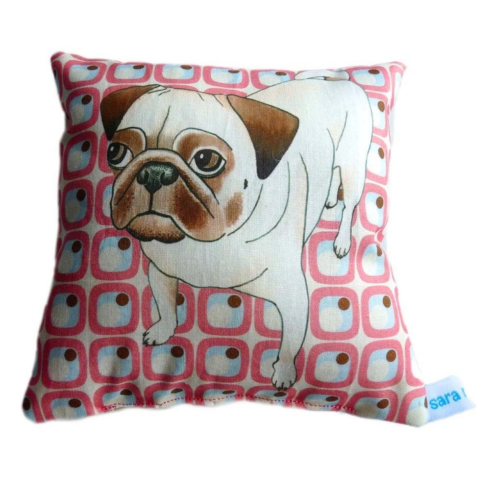 sara norwood ? Pug dog cushion / pillow gift