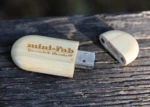 Image of Personalized Bamboo USB Flash Drive - 4GB