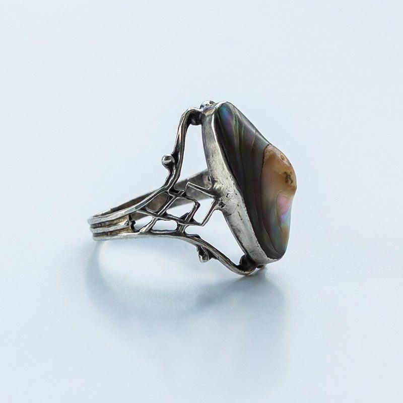 Image of Antique Art Nouveau Blister Pearl Ring