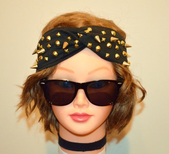 Image of Gold Studs & Spikes TEE Turband Headwrap