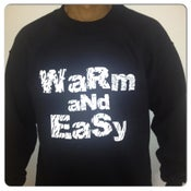 Image of Warm_And_Easy Sweatshirt (Black/White Text)