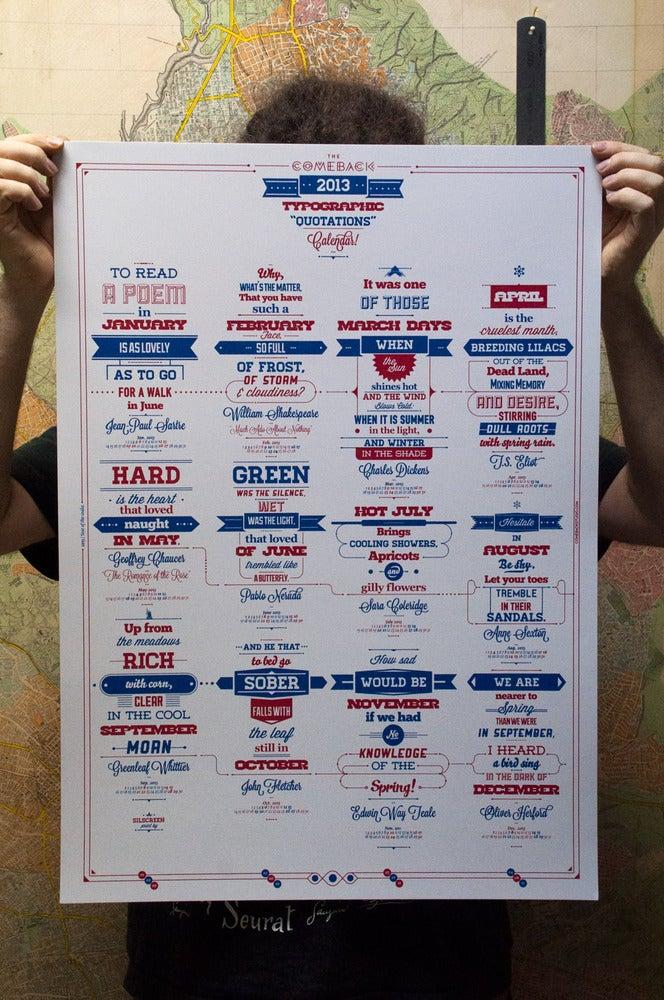 Image of 2013 Typographic / Quotation Calendar