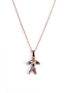 Image of Matchstick Rose Gold Boy Necklace