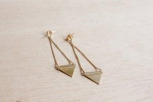 Image of boucles d'oreilles petit triangle