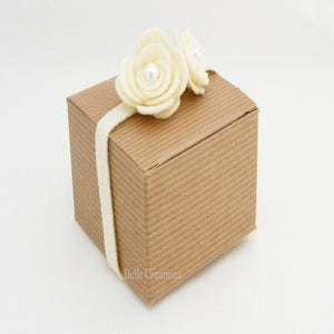 Image of Kraft Natural Pinstripe Boxes 3x3x2