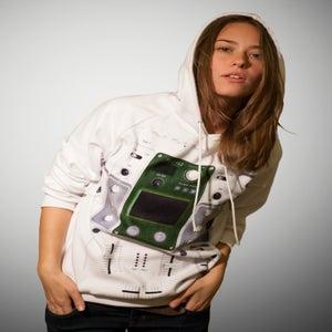 "Image of Unisex Hoodie ""White DJ Mixer"""