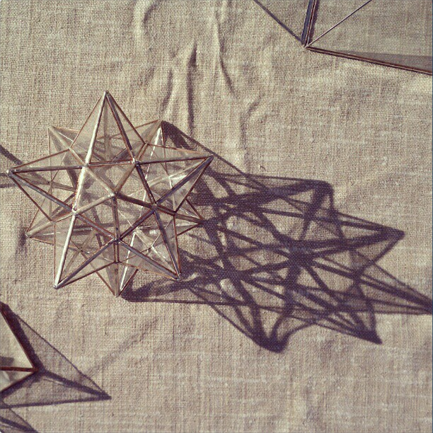 Image of 12-Pointed Stained Glass Star Tree Topper