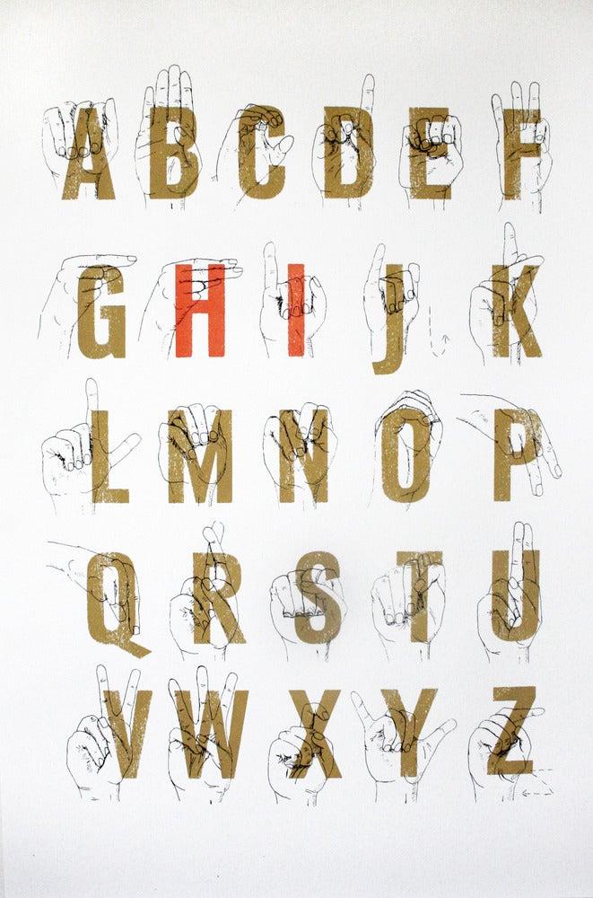Image of Sign Language Alphabet Hi