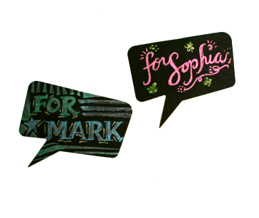 Image of Speech Bubble Gift Tags. Pack of 5
