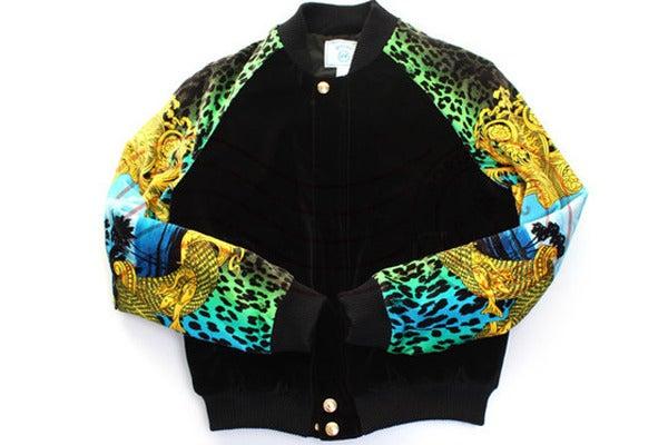 Silk Bomber Jacket Mens