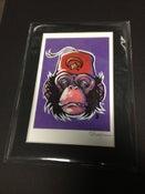 Image of Shriner Monkey - Signed Mini Print with Black Mat