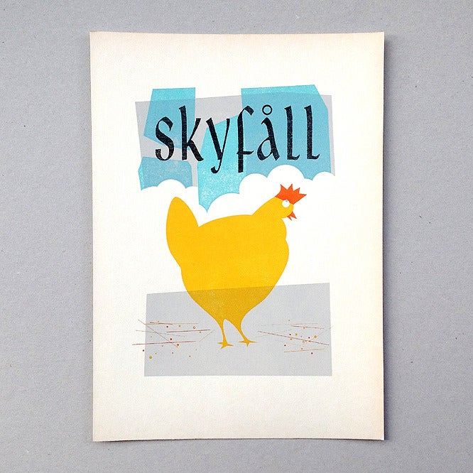 Image of Skyfåll Screen Print Limited Edition