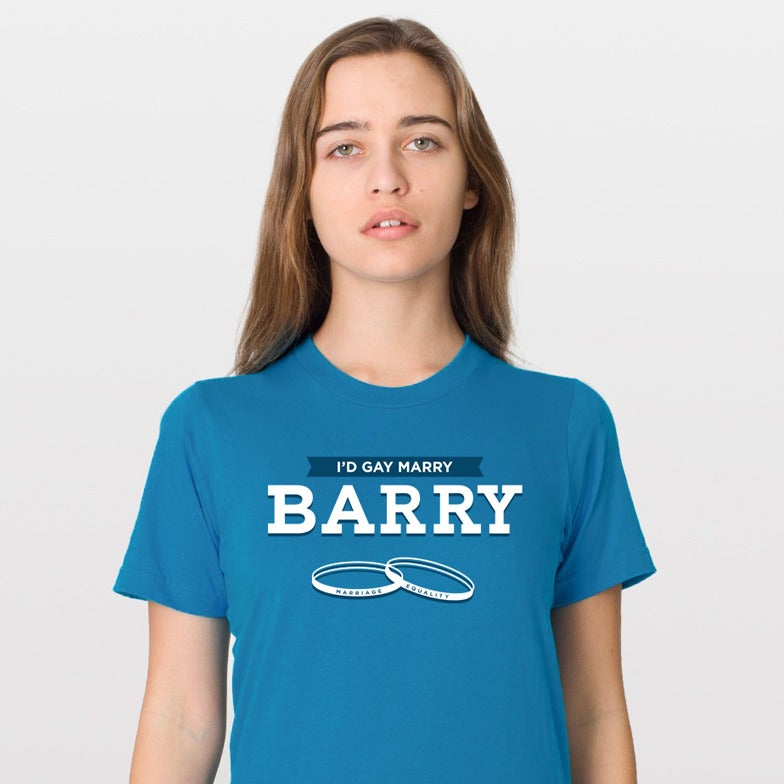 """Image of """"I'd Gay Marry Barry"""" Unisex Tee"""