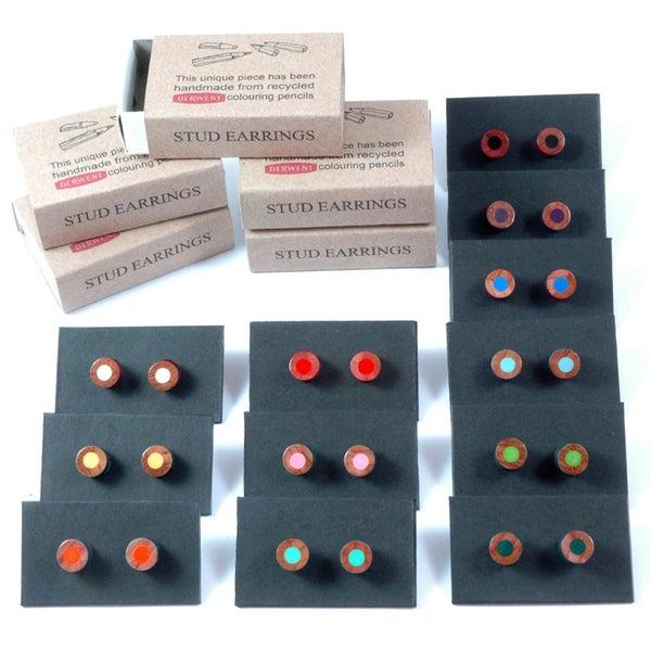 Image of pencil stud earrings