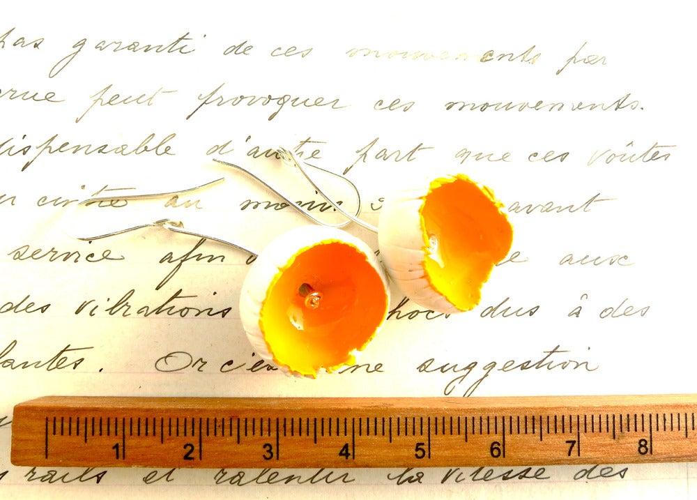 Image of White Flowers Earrings