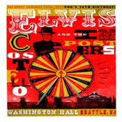 Image of Elvis Costello at Washington Hall. Seattle, 2012.