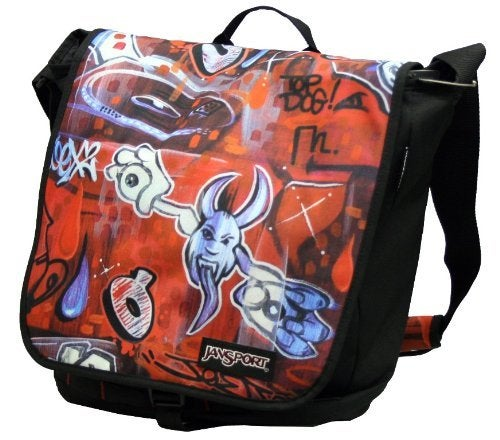 Image of Jansport Seeing Red Messenger Bag Artist Series