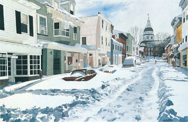 Image of Annapolis Adrift Notecard