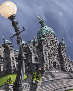 Image of BC Legislature 8x10 Block Mounted Print
