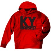 Image of Ky Raised Red / Black Hooded Sweatshirt