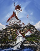 Image of Trial Island Lighthouse 8x10 Block Mounted Print