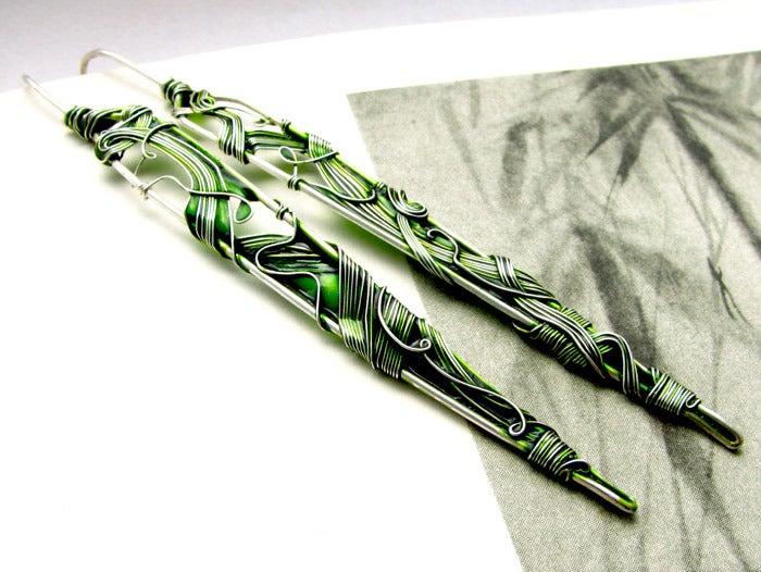 Image of Green Leaves Earrings