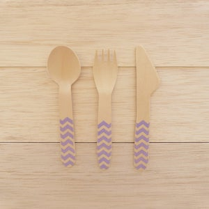 Image of Talheres Wood Lilac CHEVRON (10 unidades por ref.)