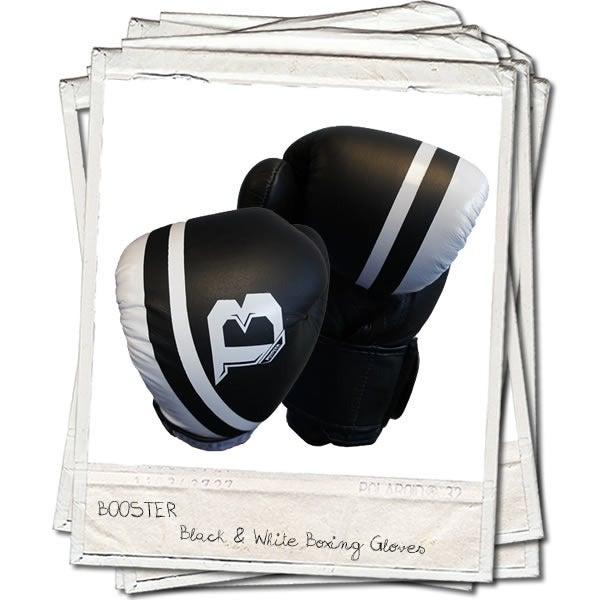 Image of Booster Pro Range Thai Leather Boxing Gloves Black