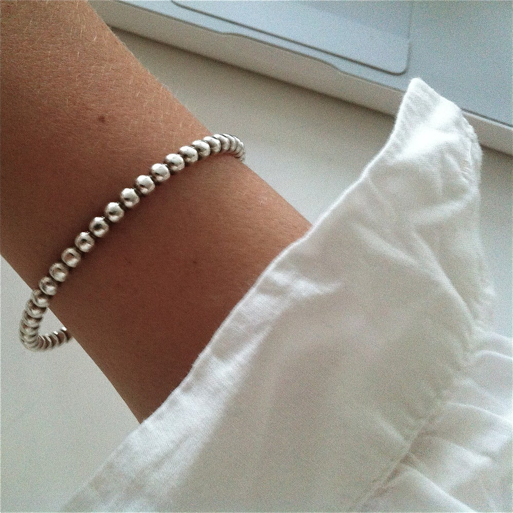 Image of Bubbly silver bracelet thicker