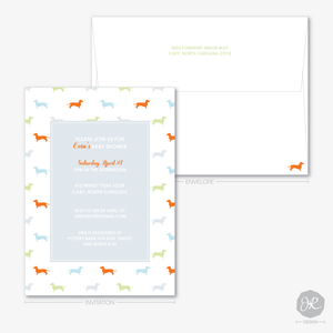 Image of Doggie Baby Shower | Invitations