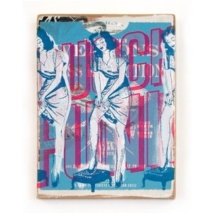 Limited Woodprint / The Collection #3 (blue/pink girl)